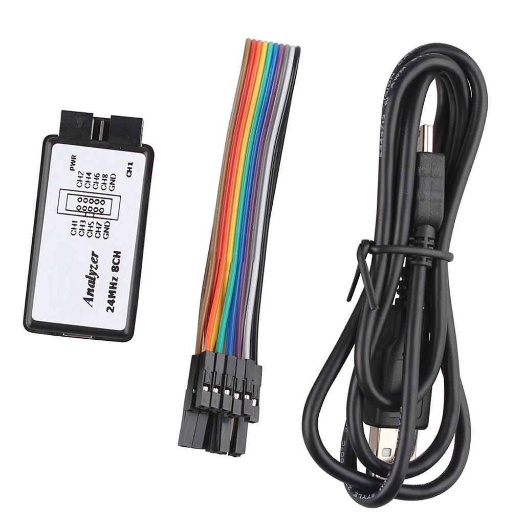 USB Logic Analyzer Device Set USB Cable 24MHz 8CH 24MHz for ARM FPGA M100