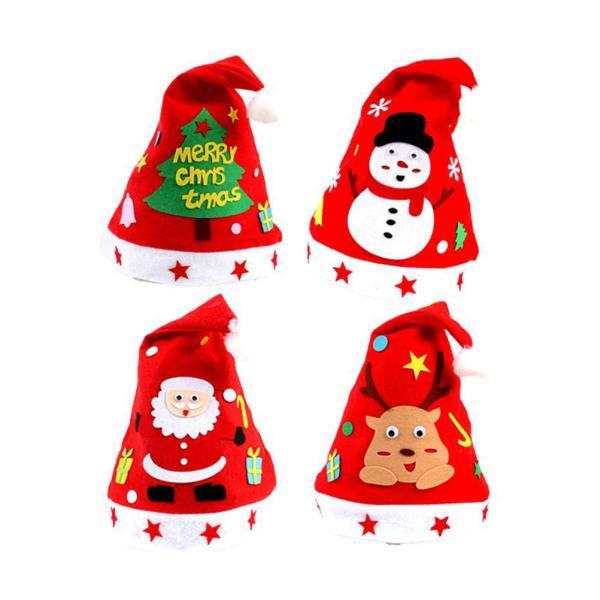 Unisex Adult Kids Christmas Hat Xmas Santa Claus Hat Festive Family Decorations