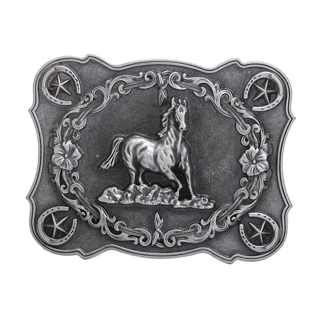 New Vintage Western Cowboy Alloy Metal Belt Buckle Classic Retro Mens Jewelry