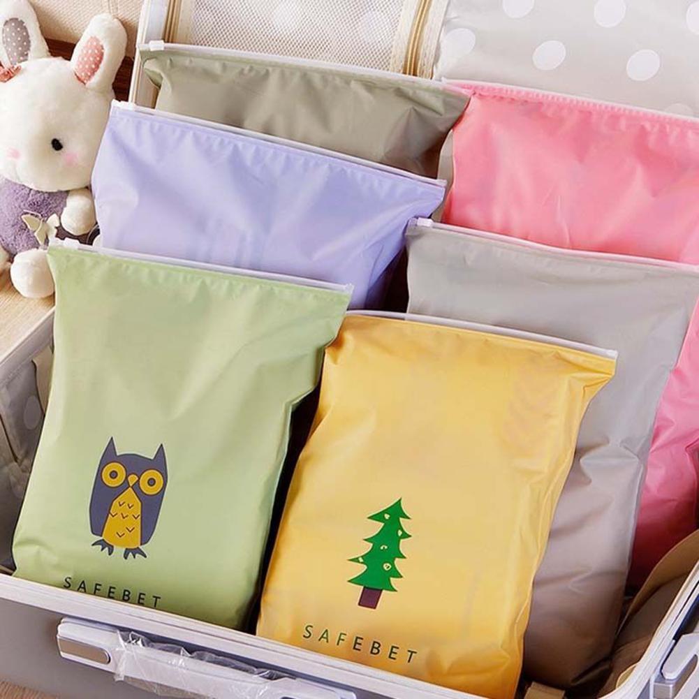 114b652aab5 Sacos de armazenamento de viagem mala de viagem roupa interior de sapatos  desenho animado organizador impermeável embalagem de roupas saco de cordão