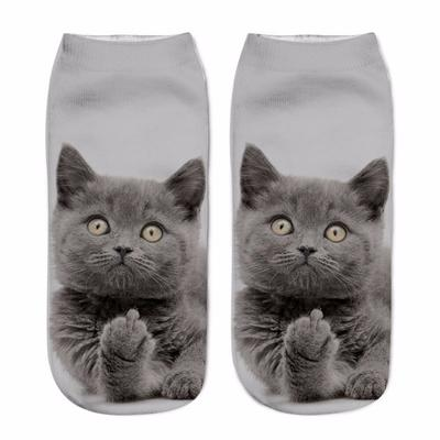 Mens athletic low cut Ankle sock Cute Funny Christmas Cats Short Sports Sock