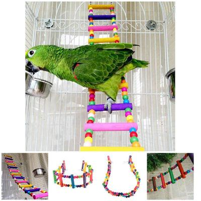 Bird Toys Parakeet Parrot Cage Bell Stack Budgie Bird Toy Swing Perch