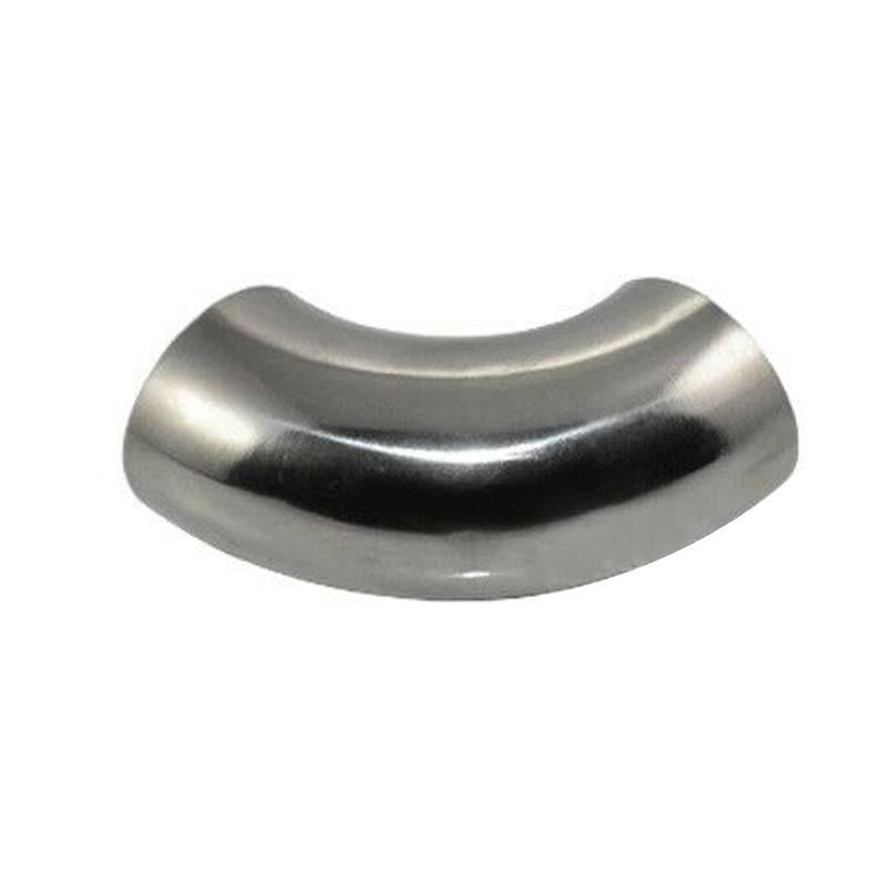 2Inch Stainless Steel 90 Degree Bend 51mm Elbow Exhaust Pipe Fittings Durable
