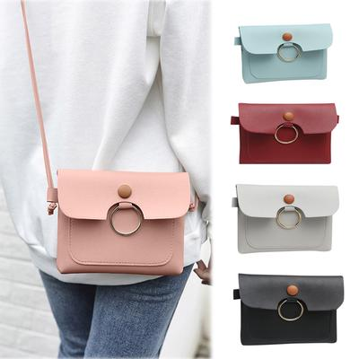 Womens Fashion Solid Color Shoulder Bag Fresh Multi-Function Coin Purse