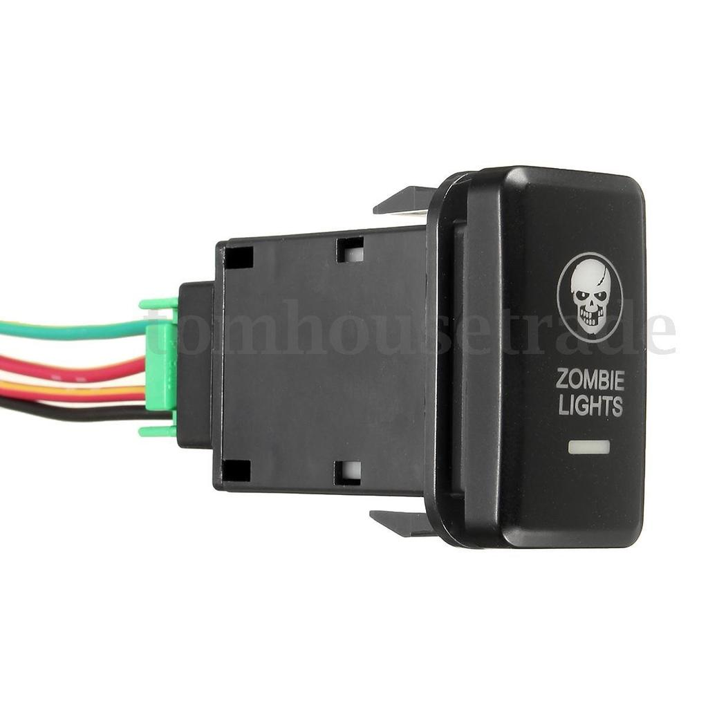 On Off Push Switch Led Zombie Lights Cool Color 12 24v Replacement Light Rocker Wiring Diagram 1 Of 10