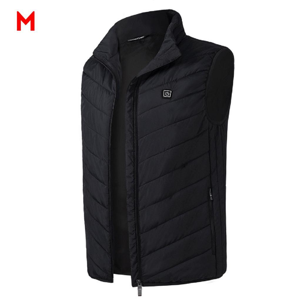 Electric USB Heated Vest Jacket Winter Velvet Windproof Body Warmer Gilet Coats