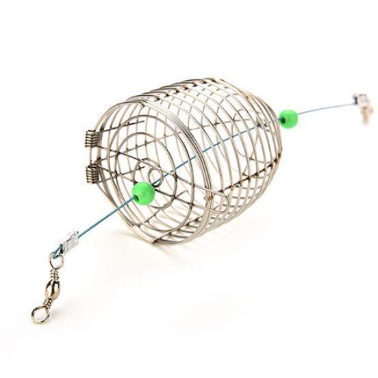 Karpfenangeln Feeder Köder Locken Käfig mit 2 Leinen Haken Zubehör besser
