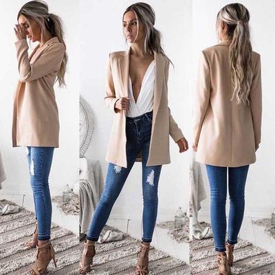 6d3f1b9ac4 Moda damska Damska marynarka Business Blazer Outwears Biurowe damskie  długie marynarki Fashion Coat Blazers
