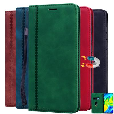 For Redmi Note 9S Case Magnetic Leather Wallet Phone Cases For Redmi Note 8T 9 8 7 Pro Max 8A 7A 6 6A K20 Mi A3 Lite Matte Flip Cover