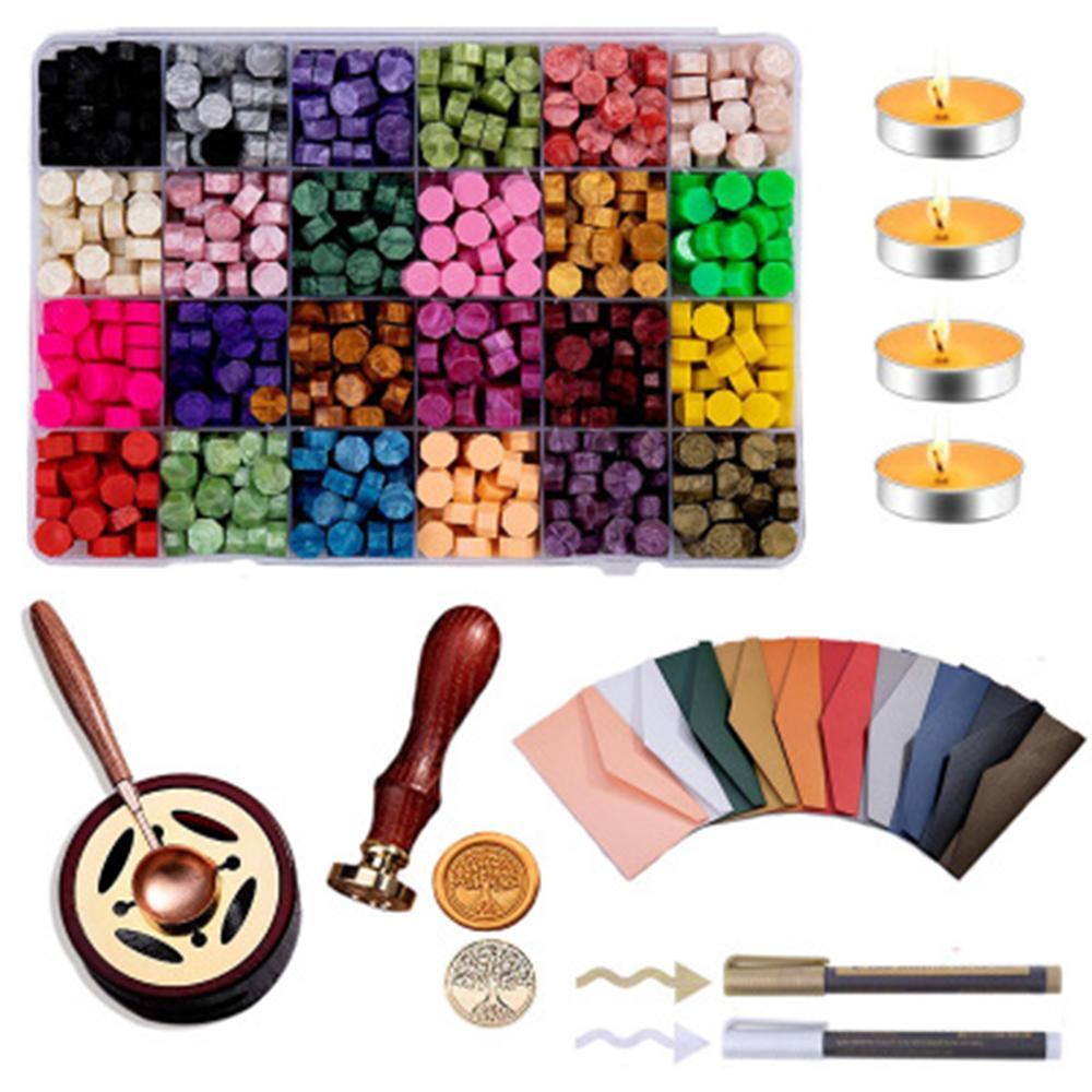 100pcs//Bag Sealing Wax Beads For Seal DIY Stamp Envelope Wedding Invitation Kit