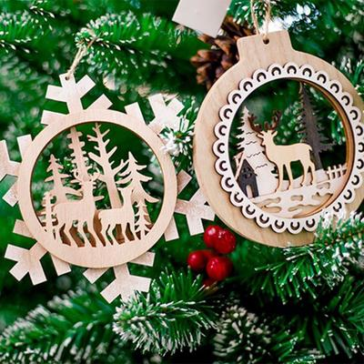Window Candlestick Wooden Snowflakes Christmas Tree 47,5cm