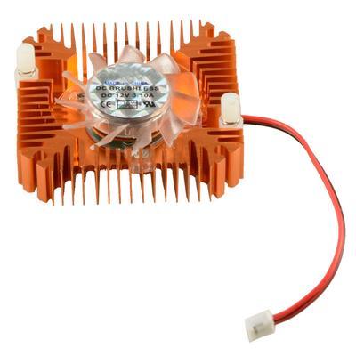 40mm Aluminum 2pin GPU VGA Video Card Heatsink Cooler Cooling Fan Hole Size55mm.