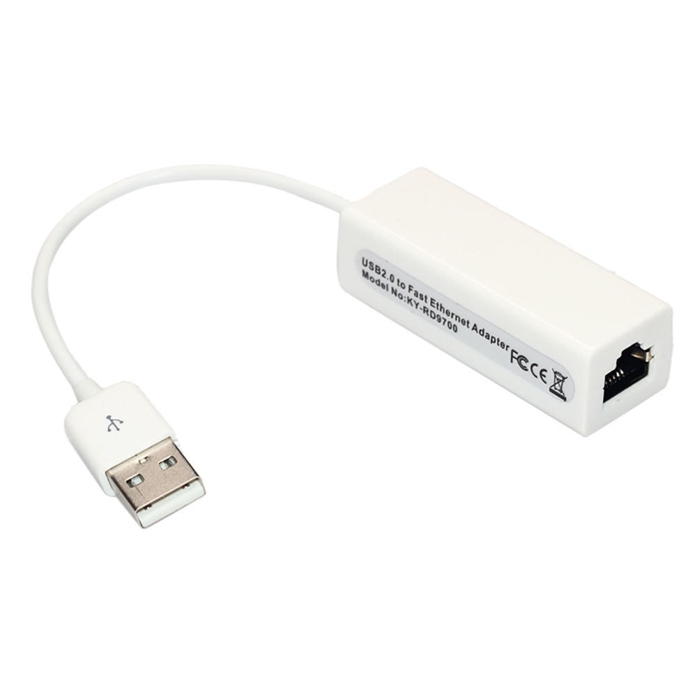 USB 2.0 Type A Male to RJ45 Female Cat5e Ethernet Network Adaptor 10//100 Mbps