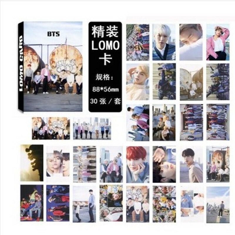 30pcs/Set KPOP BTS Ломо Карта Bangtan Мальчики Фотокарты V SUGA JIMIN JIN BTS Accesssories – купить по низким ценам в интернет-магазине Joom