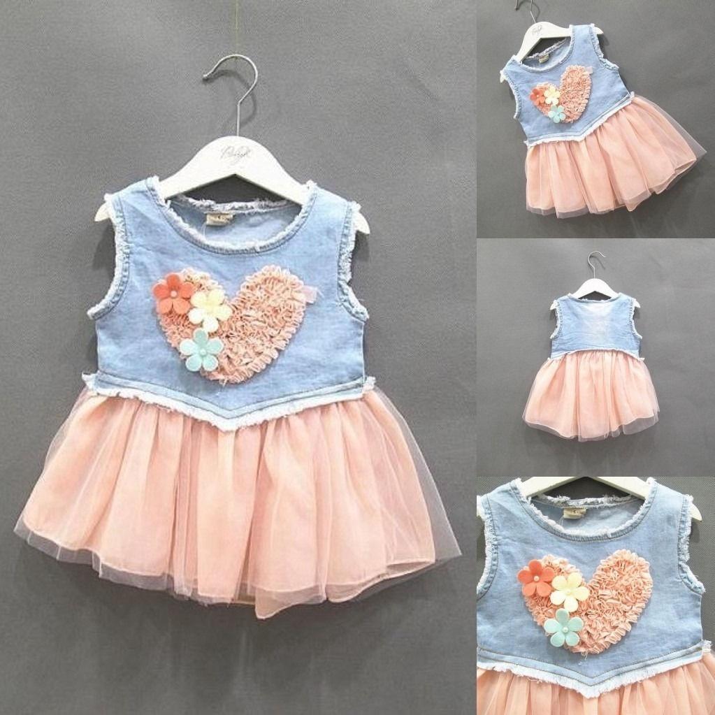 dd2870fb74a Моды Baby девочек малыш платье принцессы участника рукавов кружева ...