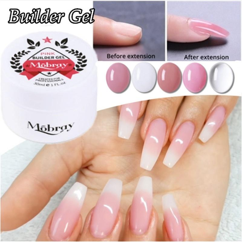 1 Pc Builder Gel For Nail Extensions Led Nail Polish Pink Clear White False Tips Long Black Case Buy At A Low Prices On Joom E Commerce Platform