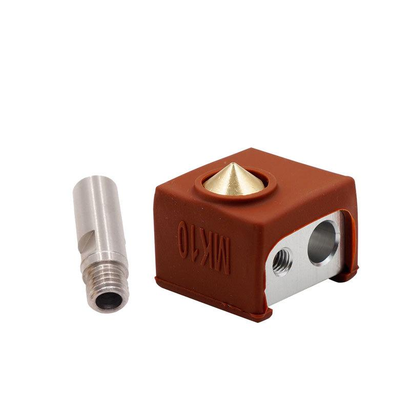MK10 Extruder Hotend Kit Heated Block Nozzle Silicone Cover 3D Printer Parts