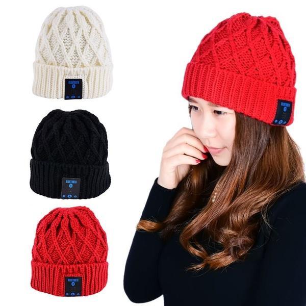 Beanie Hat Wireless Talk Call Bluetooth Smart Cap Headphone Headset ... f154fe5d86de