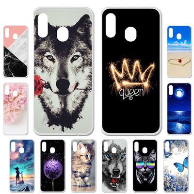 Akabeila Cases for Samsung Galaxy A30 A 30 Samsung A20 A 20 2019 A305 A305F Cover Painted Phone Bag