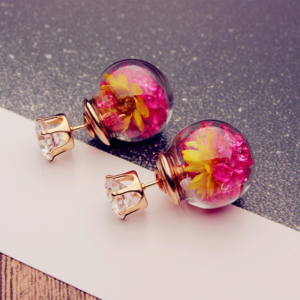 0c34752bee8d Aretes 1 par de pendientes diamante de imitación joyería elegante vaso  pendientes para niñas de las mujeres