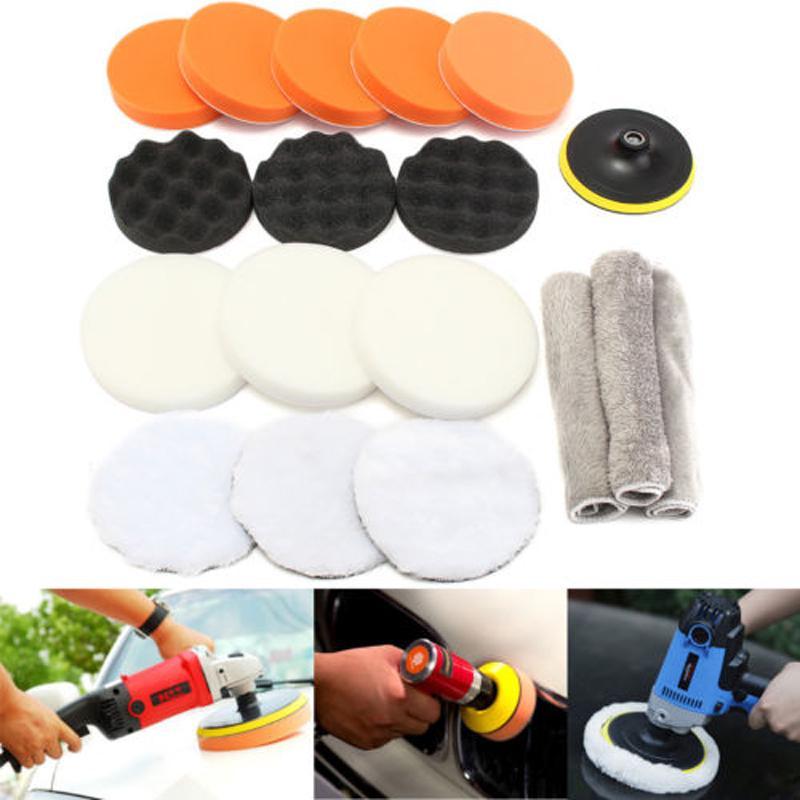 16pcs//Set Polishing Pad Kit Buffing Wheel Cone Body Auto Polisher Buffer Tool