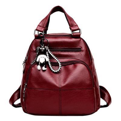 998d81f7b3 PU Leather Backpacks Women School Travel Handbag Teenage Girl Shoulder Bags