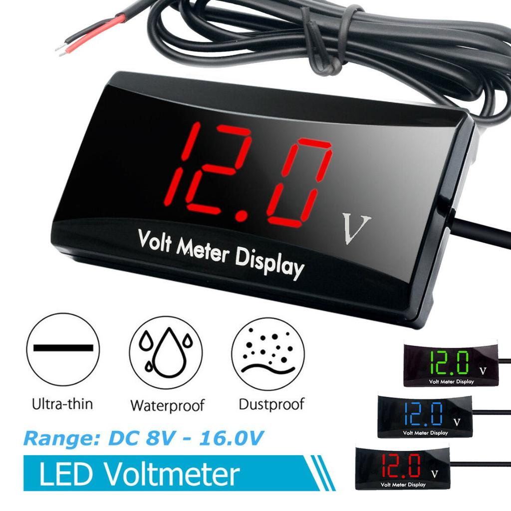 Digital DC 12V Green LED Display Voltmeter Voltage Gauge Panel Meter For Car
