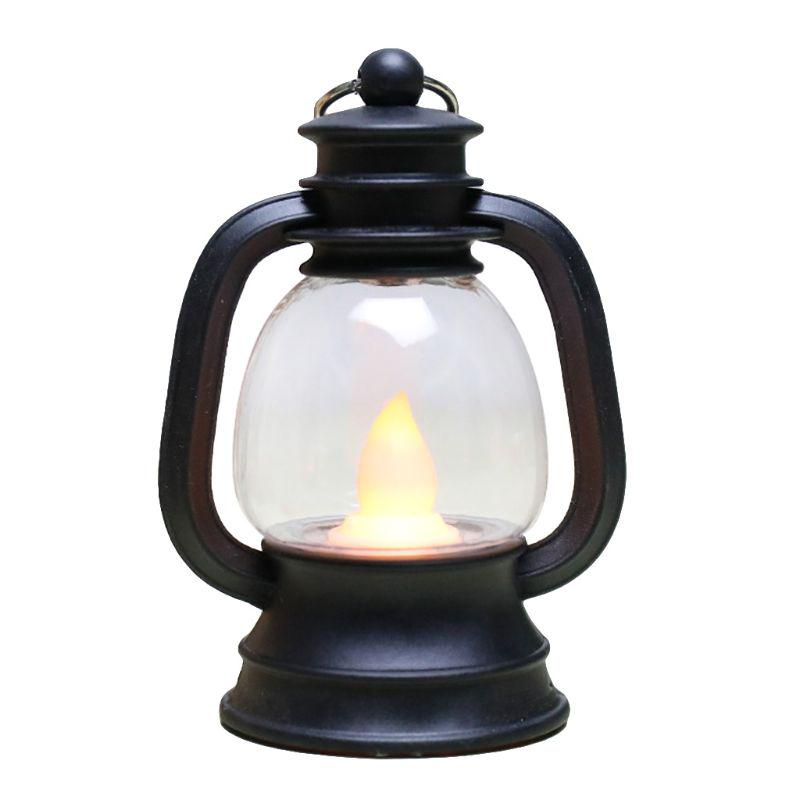 New Vintage Retro Kerosene Lamp, Decorative Hurricane Lamps Black