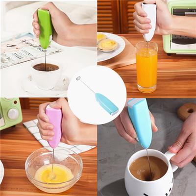 Electric Handheld Egg Beater Mini Stainless Steel Egg Coffee Tea Milk Mixer Home Kitchen