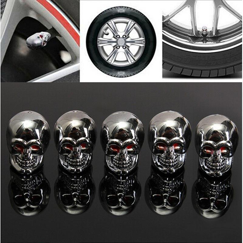 4x tapa válvula neumáticos válvula calavera Crossbones negro para automóviles camiones moto