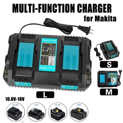 New Makita DC18RD 18V 18 Volt LXT Lithium Ion Dual Port Rapid Battery Charger