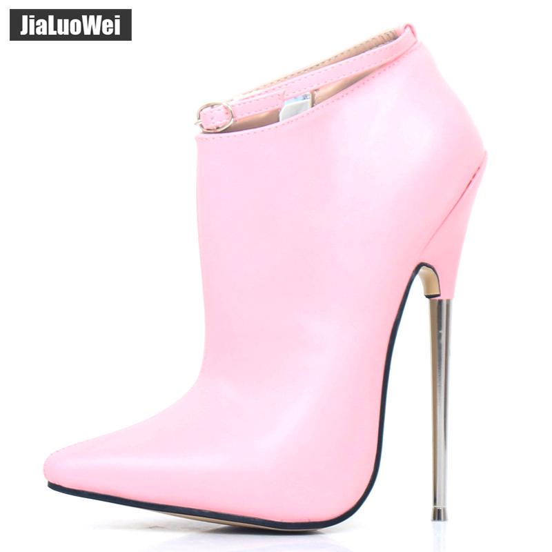 18cm Stiletto Metal Heel  High Heel Ankle Straps Pointed Toe Women Party Sandals