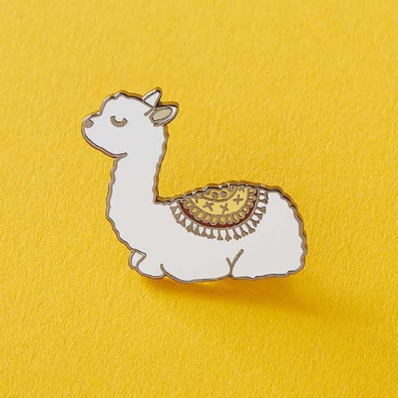 Llama Brooch Lama Stars Sea Pin