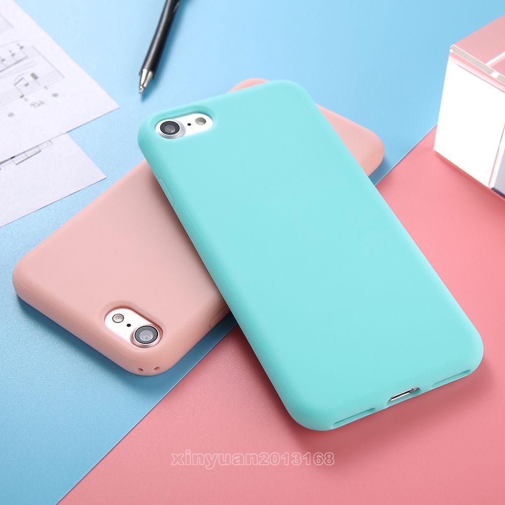 Силиконовый чехол конфетных цветов, ударопрочный, резиновый, мягкий, для iPhone 5 5S SE 6 6S 7 8 Plus X фото