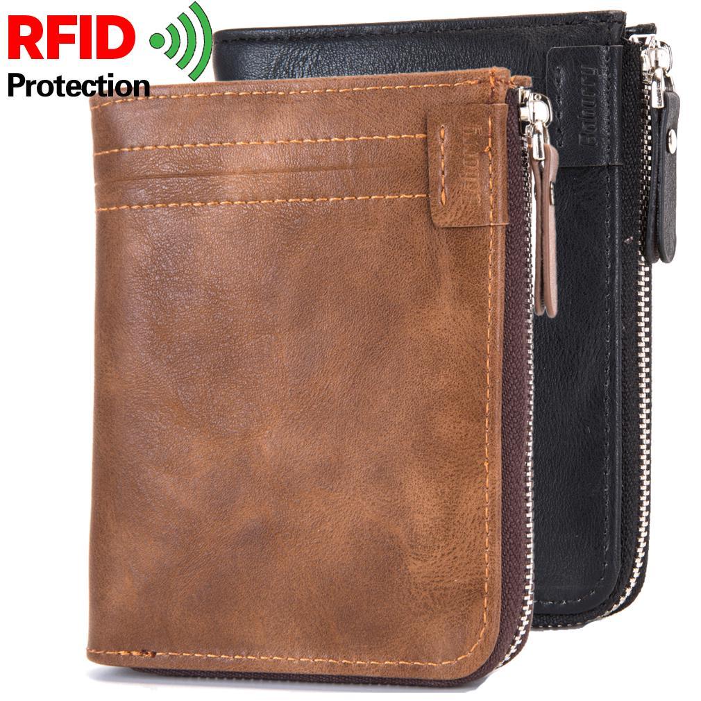 Кражи RFID защищать монета мешок молния мужчин кошельки бренд мужской Кошелек мужской деньги кошельки кошельки мужчин Валле фото