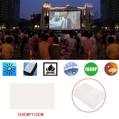 HD Projection Screen Projector Curtain Lobbies Courtyard Home Cinema Weddings