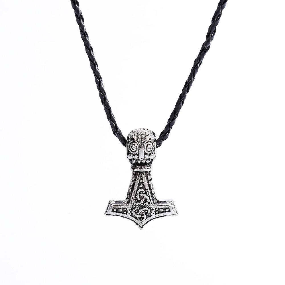 Stainelss Steel Viking Amulette 2 Thor Hammer MJOLNIR Collier Pendentif-Sac Cadeau