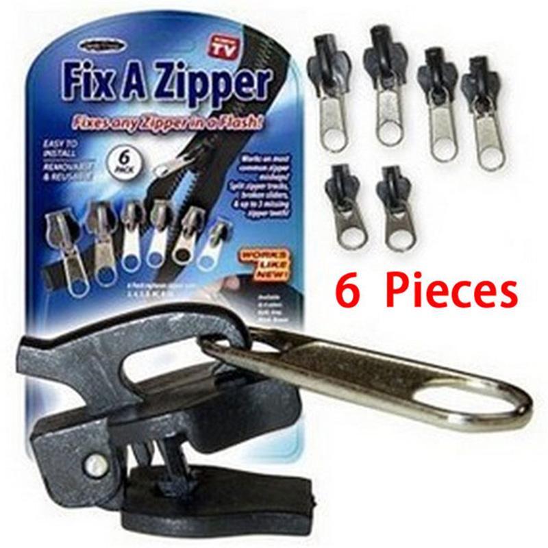 6Pcs Fix Zipper Zip Slider Rescue Instant Repair Kit Replacement Universal