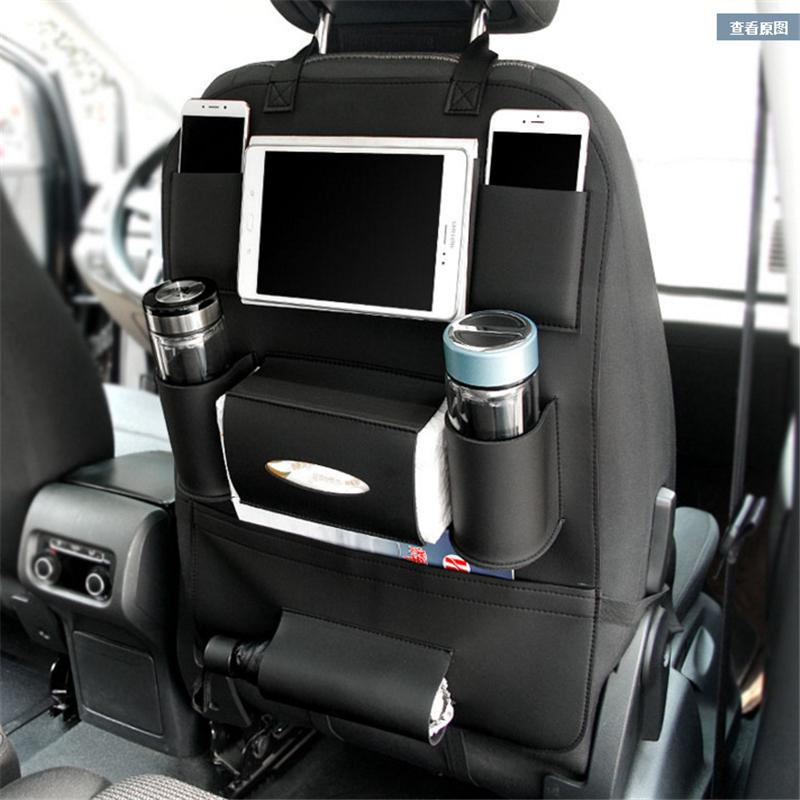 Car Handbag Holder Seat Back Net Bag Leather Seat Back Organizer Mesh Handbag Holder Between The Two Seats of The Car