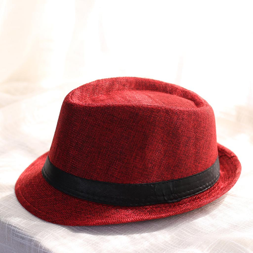 Leisure Unisex Beach Hats Stylish Women Men Panama Jazz Hats Cowboy  Gangster Cap (Wine Red)-buy at a low prices on Joom e-commerce platform f33073359407