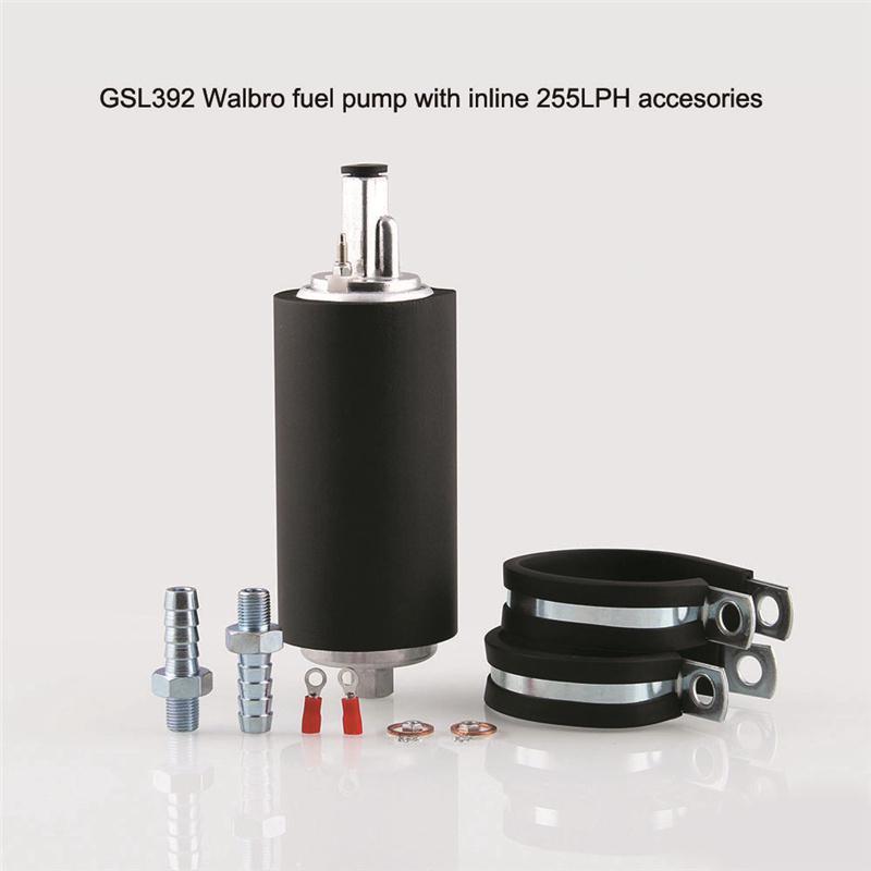 GSL392 Walbro 255 Fuel Pump Kit Inline with Universal Installation Kit