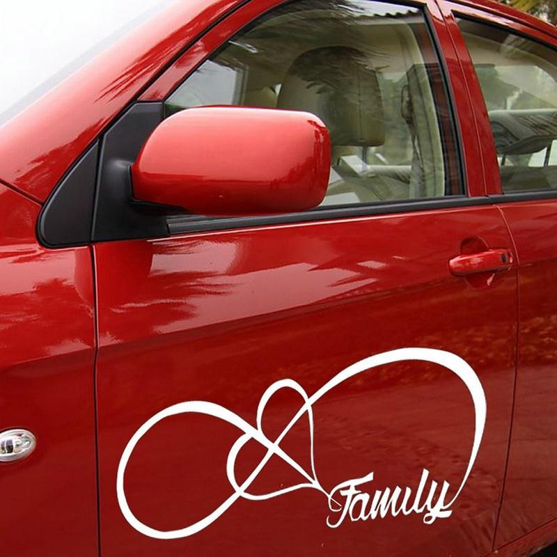 STICKER FAMILY LOVE HEART INFINITY FOREVER SYMBOL VINYL DECAL CAR WINDOW STICKER