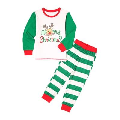 0ddaffaa1f472 Xmas imprimé Pyjamas Parent-enfant vêtements Homewear vacances Noël Costume