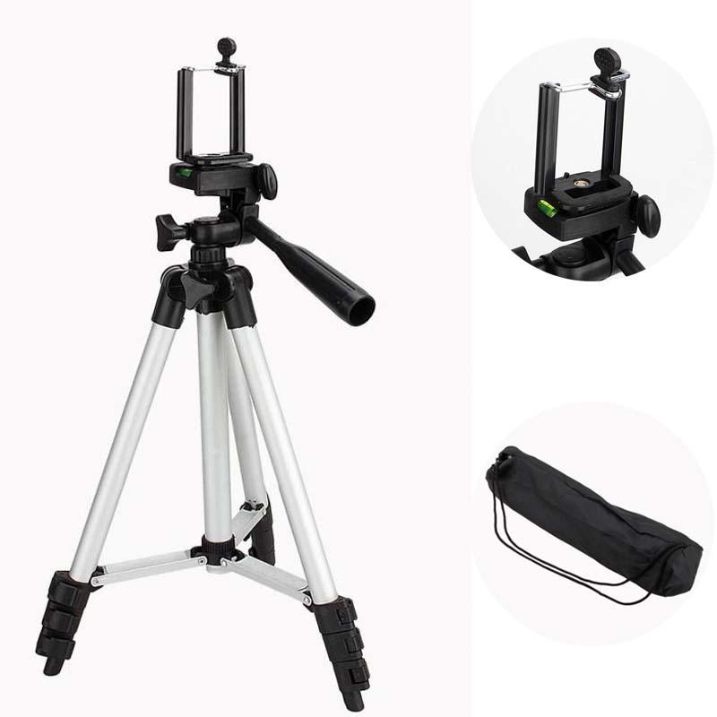 CYcaibang Camera Stand Portable Phone Live Selfie 3366 Tripod Stand DV SLR Camera Self-Timer Full Easy Bracket Color : Silver Flatware
