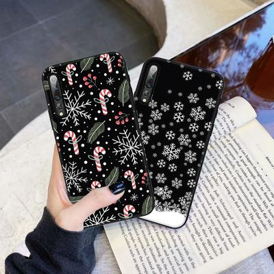 Fashion Christmas Pattern Design Anti Slip Slim Matte Phone Case For iPhone SE 2020 Samsung A12 Huawei Y6p Redmi Note 9