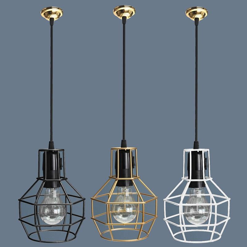 Industrielle Manila Seil Eisen Anhänger Lampenschirm Decke Kronleuchter Licht