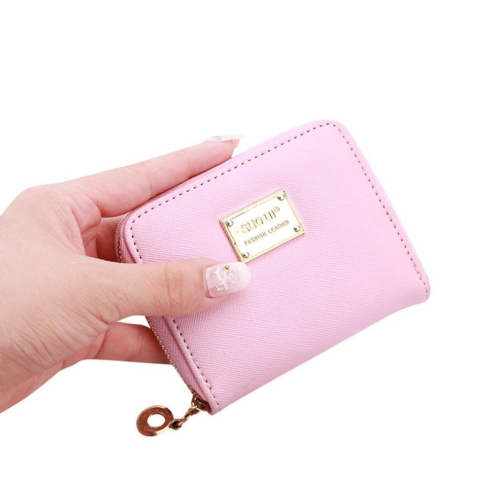 Womens Mini Purse Wallet Change Coin Key Card Holder Zip Little Clutch Hand Bag