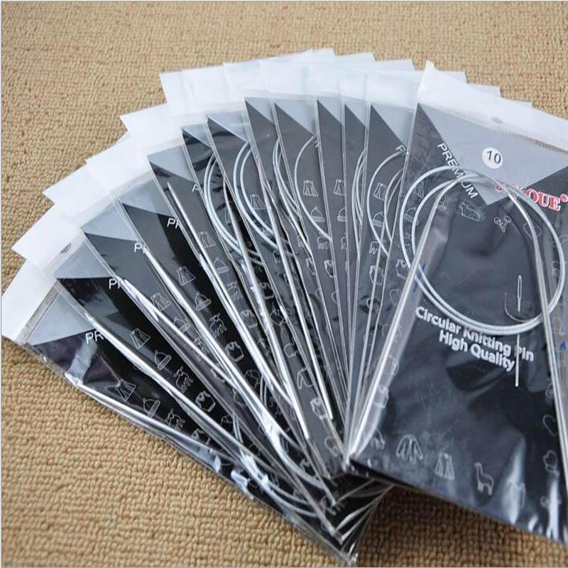 80 см ткачество булавки из нержавеющей стали круглые вязанные иглы вязать набор инструментов для шарф рукоделие свитер фото
