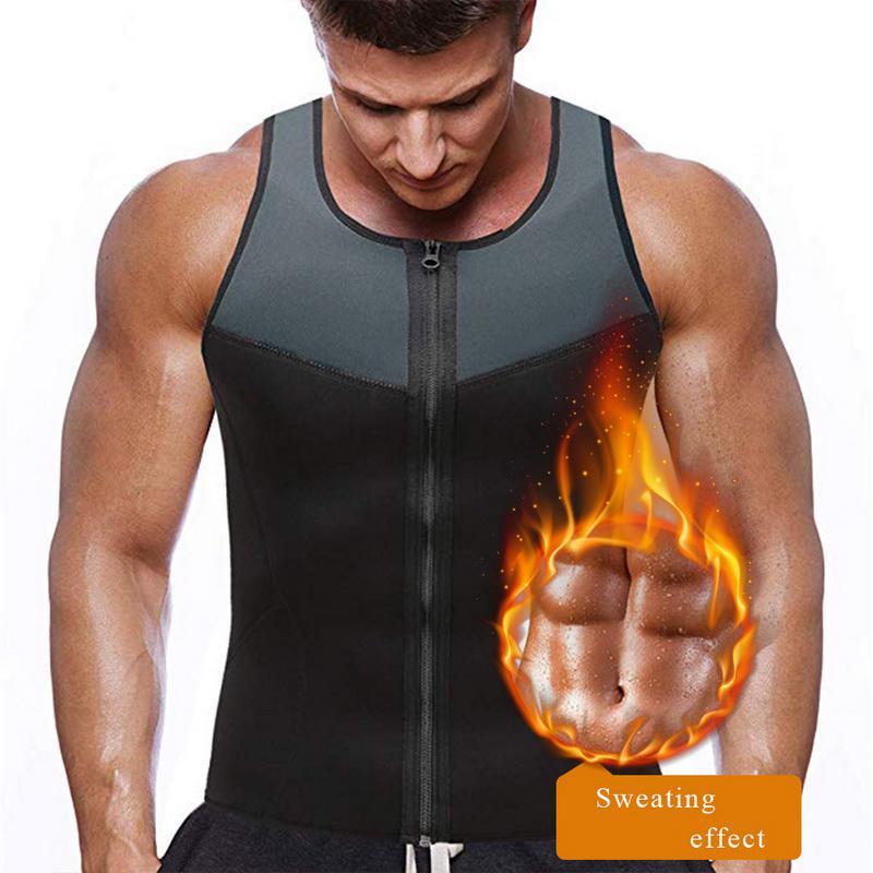 Neoprene Sweat Vest Top Zip Front Gym Sauna,Fitness Weight Training Size M