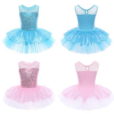 Vestido De Baile niñas Niños Disfraz Ballet Gimnasia Leotardo Tutú De Baile lírico